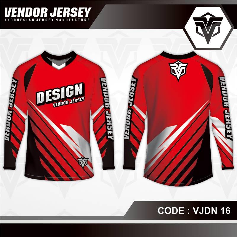 Desain Jersey Sepeda Printing Warna Merah Selera Pemberani