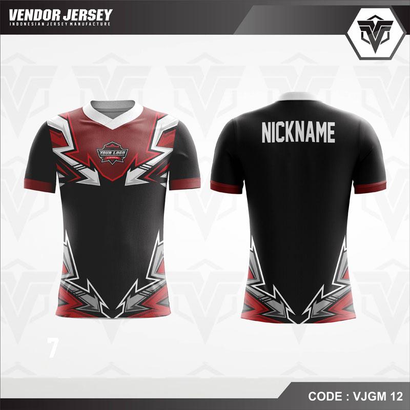 Desain Kaos Gaming Esport Warna Coklat Hitam Elegan