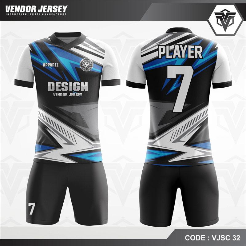 Desain Jersey Bola Futsal Motif Zig Zag Keren Banget