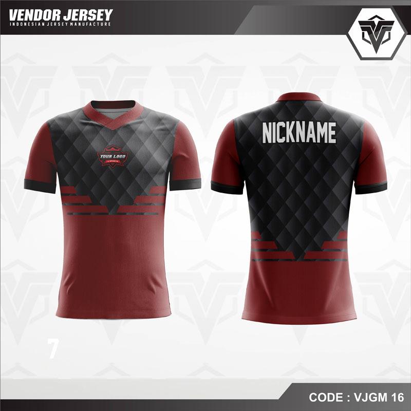 Desain Jersey Gaming Esport Warna Coklat Hitam Yang Menawan