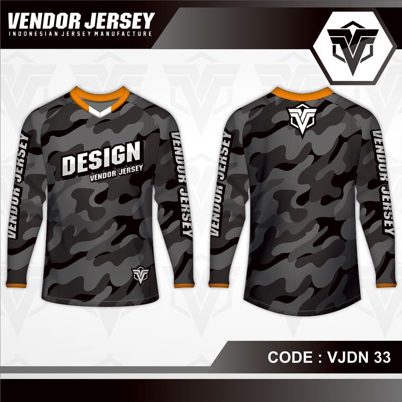 Desain Kaos Sepeda Motif Loreng Army Maksimalkan Gagahmu