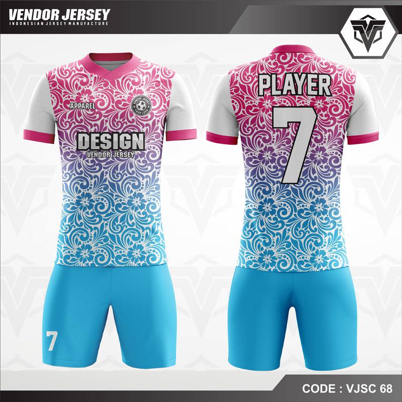 Desain Baju Futsal Printing Motif Batik Yang Trendy