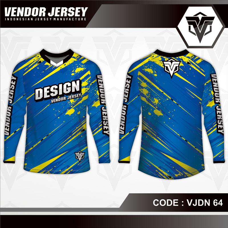 Desain Baju Sepeda Warna Biru Tampil Lebih Gagah
