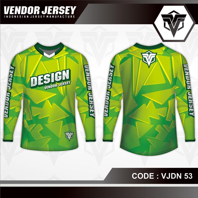 Desain Baju Sepeda Warna Hijau Yang Cool