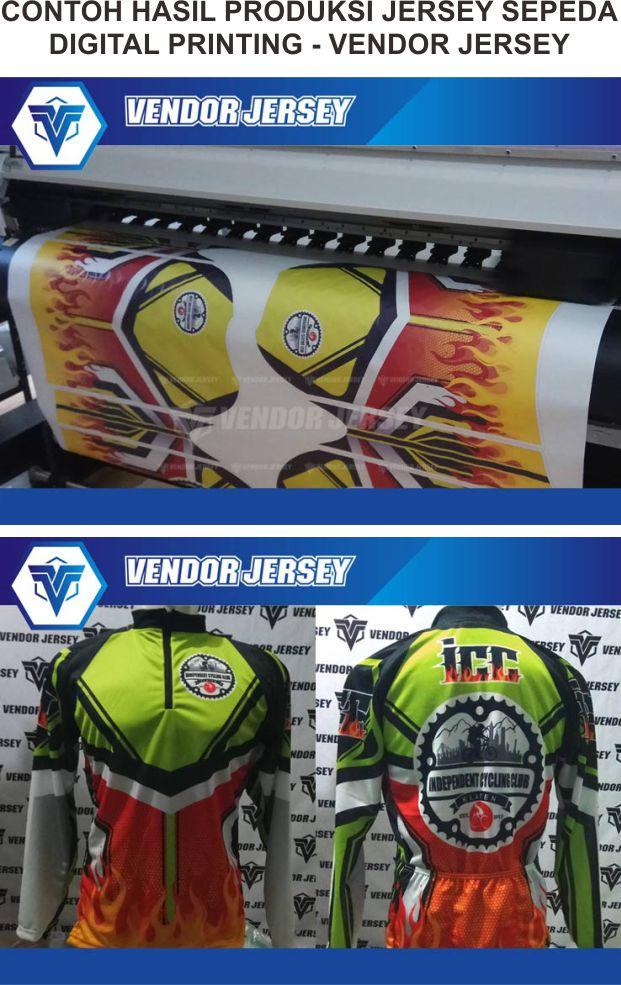 Desain Jersey Sepeda Full Print Warna Hijau Motif Zig Zag