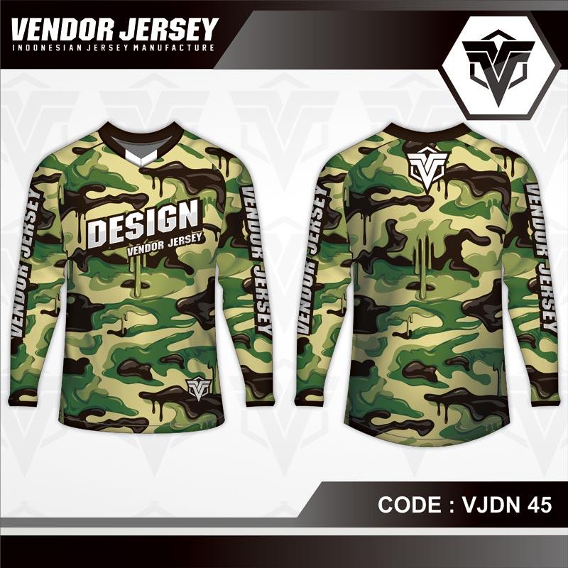 Desain Kaos Sepeda Motif Loreng Army Terbaru