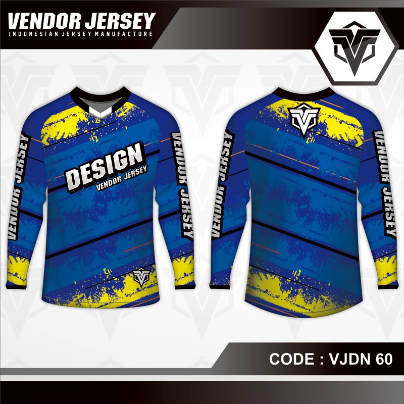 Desain Kaos Sepeda Warna Biru Tampil Lebih Elegan