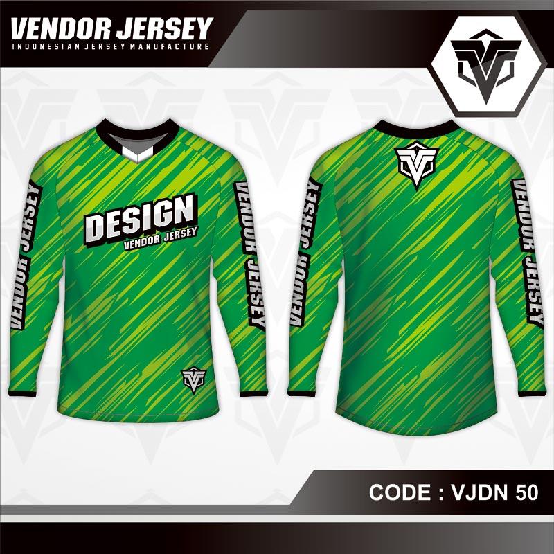Desain Seragam Sepeda Full Print Warna Hijau Yang Trendy