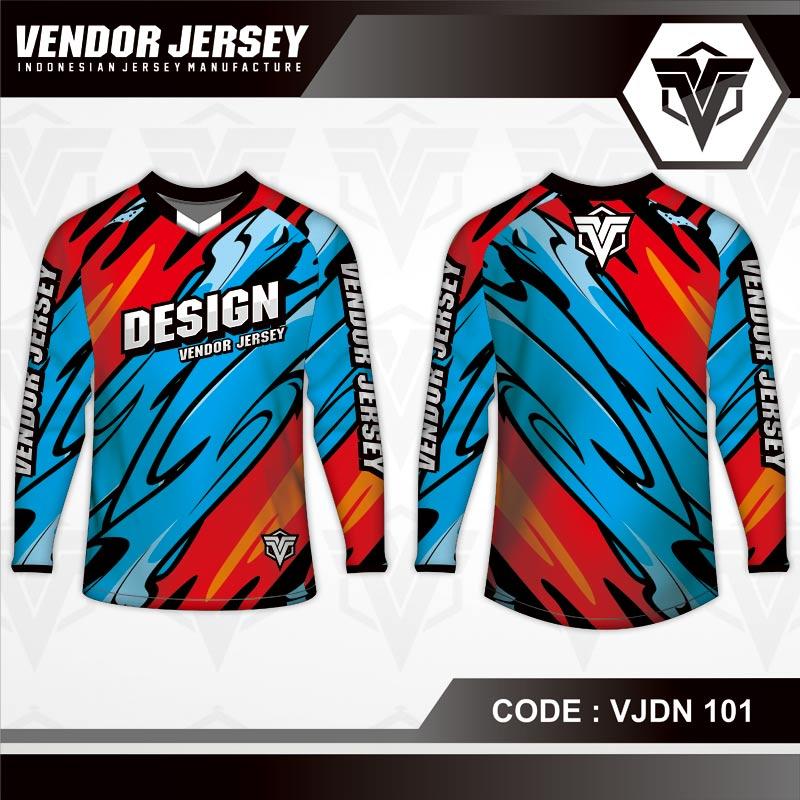 Desain Jersey Sepeda Printing Motif Bergelombang Yang Keren Banget