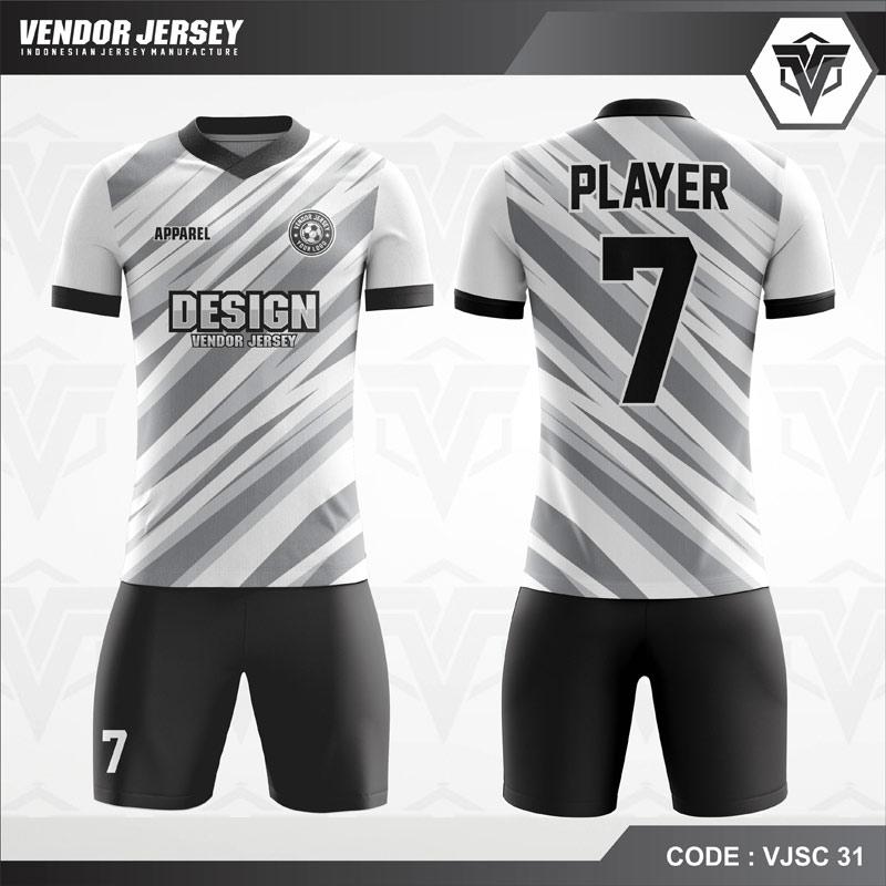 Desain Baju Futsal Printing Motif Zig Zag Tampil Lebih Stylish