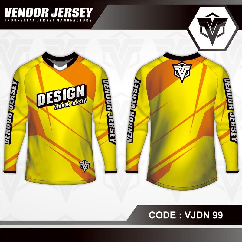 Desain Baju Sepeda Warna Kuning Coklat Tampil Soulid