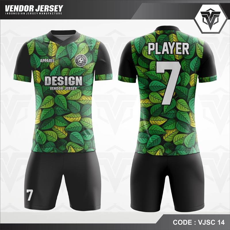 Desain Jersey Futsal Motif Daun Unik Untuk Tampil Beda