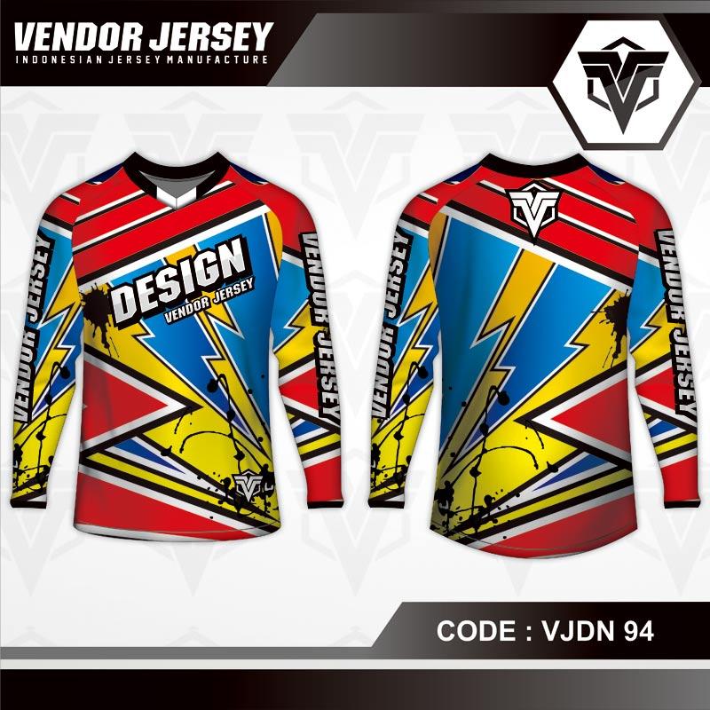 Desain Jersey Sepeda Motif Zig Zag Paling Trendy