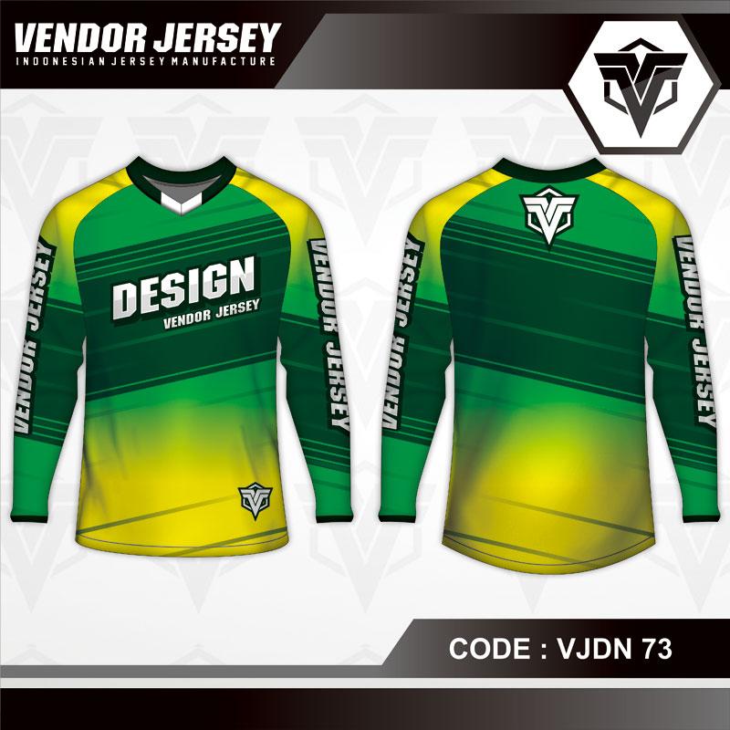 Desain Jersey Sepeda Warna Hijau Kuning Simple Tapi Keren