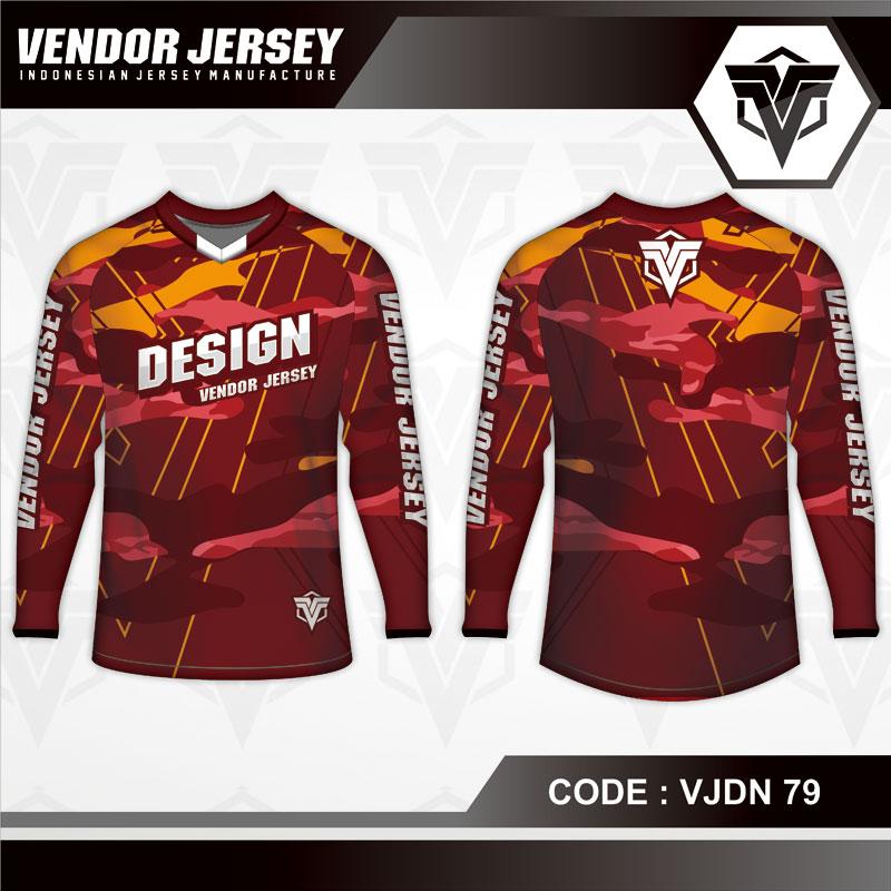 Desain Kaos Sepeda Warna Coklat Motif Bercak Yang Unik