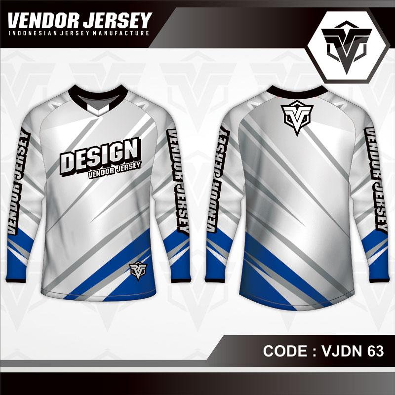Desain Kaos Sepeda Warna Silver Simple Tapi Berkelas