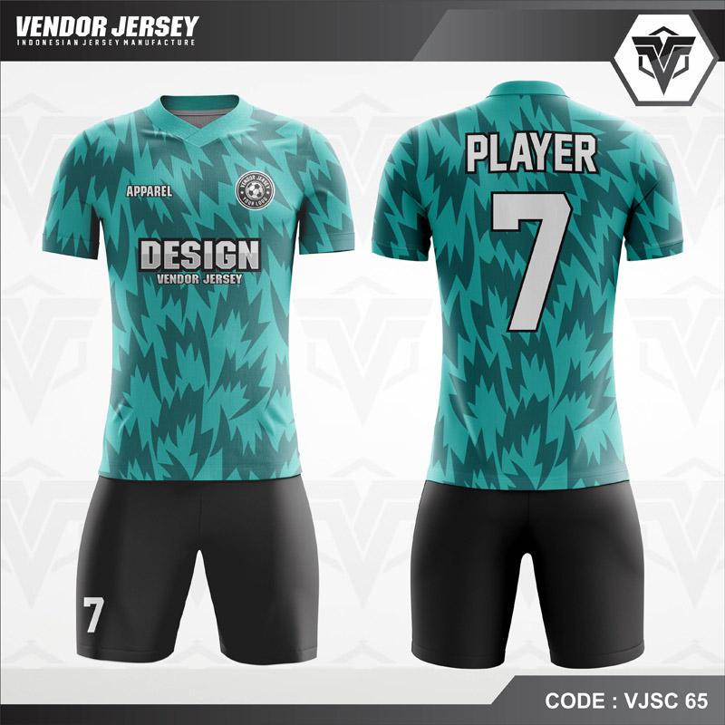 Desain Kostum Futsal Motif Bergerigi Paling Keren