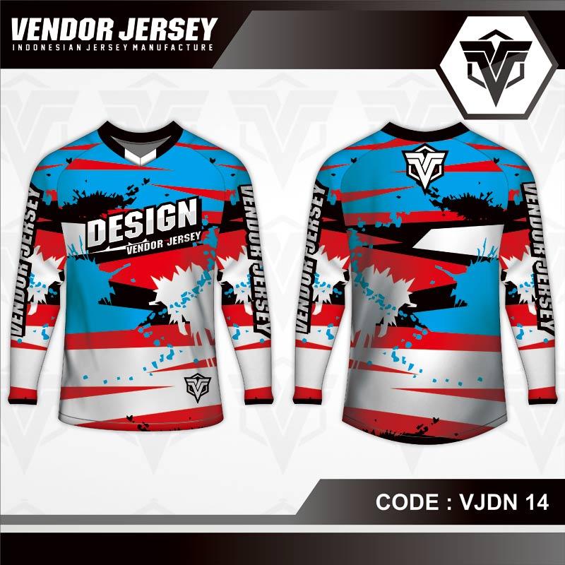 Desain Jersey Sepeda Full Prit Motif Zig Zag Tampil Lebih Cool