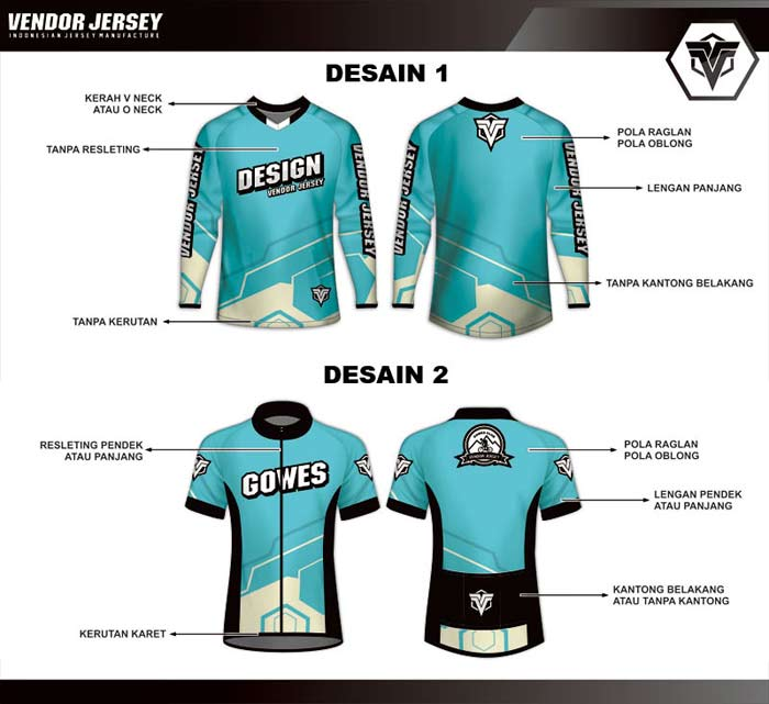 bikin jersey sepeda printing