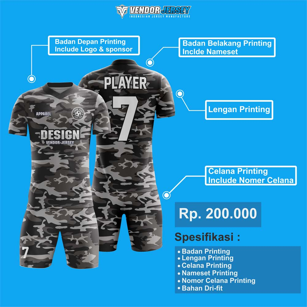 harga jersey futsal printing
